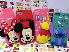 New 3D Cute Cartoon Disney Rubber Silicone Soft Case Cover for iPhone 6 Plus 5S