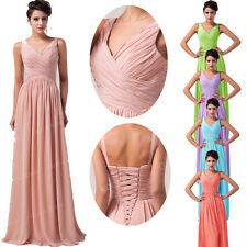 V Neck Chiffon Long Sexy Colorful DESIGNER Evening Dresses Party Bridemaid Dress