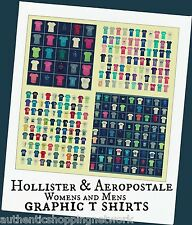 Wholesale Hollister and Aeropostale Mens & Womens Graphic Embroidered T-Shirts
