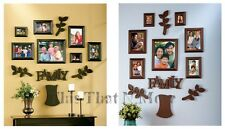 Family Tree Photo Picture Frame 12 Piece Set Black Brown NEW