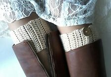 Handmade Crochet Boot Cuffs Boot toppers Boot socks BIG AND EXTRA SIZES