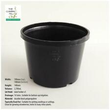 190mm x 140mm Black Plastic Squat Pots. Potting seedlings, garden plant & shrub.