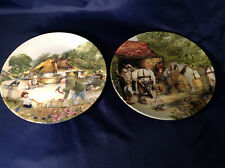 Choice of 2 Newlyn Artists Coalport Collector Plates Pier Steps  Home Alone