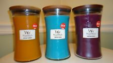 WoodWick Candles with wood lids 22oz ~ Various Scents