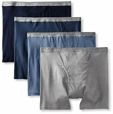 FRUIT OF THE LOOM Men's 4-PK Boxer Briefs Asstd/ BLK & GRY/Supersoft Waist S-3X