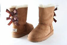Kids UGG Australia Bailey Bow 3280K Chestnut Sheepskin 100% Authentic Brand New