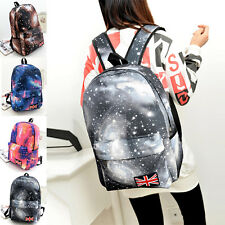 Galaxy Pattern Unisex Travel Backpack Canvas Leisure Bags School Bag Rucksack AU