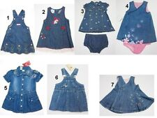 NEW Toddler Infant Baby Girls Blue Dress Denim Sz:3-6,12,18 Mo FADED GLORY,DISNE