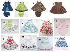 NEW Toddler Infant Baby Girls Dress Bloomers Outfit Sz:3,3-6,6,6-9,12,18,24 Mont