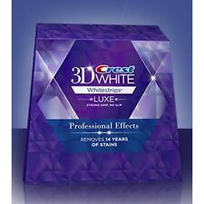 CREST3D PROFESSIONAL EFFECTS LUXE WHITESTRIPS PRO WHITENING STRIP TEETH 4,7,10
