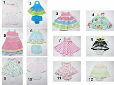 NEW Todller Kids Infant Baby Girls Dress Bloomers outfit Set Sz:0-3-4T MIX Brand