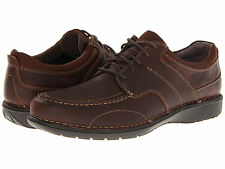 Men Clarks Sektor 45 Lace 63198 Leather Brown Oily 100% Authentic Brand New