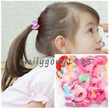 Wholesale 50Pcs Lot Mix Colour Baby Child Girl Hairband Ponytail Holders Bands