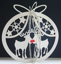 Beautiful Unique 3D Christmas Cards- Reindeers Tree Snowmen Cats Dogs Puddings
