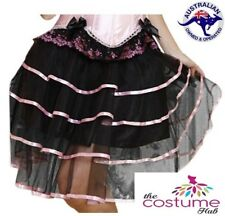 NEW Burlesque Pnik Tiered Skirt Size 8 -16 Ladies Petticoat Tutu Dancewear AU