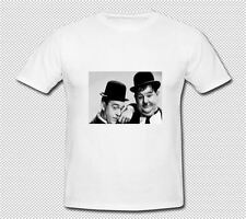 T SHIRTS-LAUREL AND HARDY-FUNNY,PRESENT-AVAILABLE IN 6 COLOURS