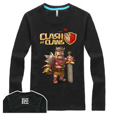 New Desgin APP Game Clash Of Clans Long Sleeve Shirt Barbarian King Pattern