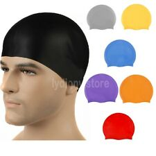 Silicone Waterproof Swimming Cap Adults Children Bath Shower Hat