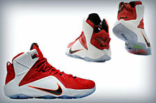 "Men's NIKE LeBron XII 12 ""HEART of a Lion"" University Red Black wht 684593-601"