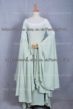 The Lord of the Rings Arwen Green Dress Costume Gown Halloween Party Tailor Made