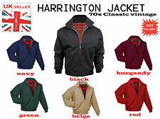 MENS NEW HARRINGTON JACKET, BOMBER JACKET, Black, Navy, Burgandy, Beige