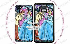 NEW Disney Stained Glass Cinderella and Prince Dance Scene Phone Case Cover