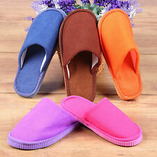 Men Women Winter Warm Soft Indoor Home House Slippers Velvet Anti-slip Shoes