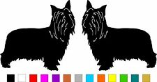 2x Australian Silky Terrier Dog (Left & Right) Vinyl Bumper Stickers #a348