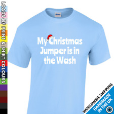 Christmas Funny Tshirt Jumper In The Wash T Shirt Mens Party Work Do Xmas Top