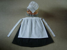 Girls/ladies edwardian, medieval costume fancy dress, skirt, 1/2 apron, bonnet