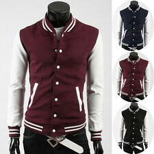 Xmas Cheap!Casual Mens Fitted Cool College Baseball Letterman Hooded Sweatshirts