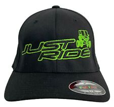 JUST RIDE UTV SIDE BY SIDE HAT FLEXFIT FITTED CAP RZR 800 900 1000 POLARI ATV