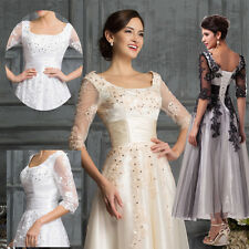 FREE P&P VICTORIAN 1960s LACE Bridesmaid Cocktail Evening Masquerade PROM Dress
