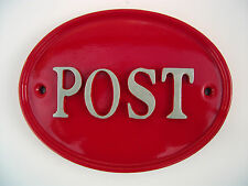 POST LETTERS POST BOX HOUSE NUMBER SIGN PLAQUE