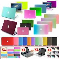 Anti-scratch rubberized Hard Case COVER For Macbook Air Pro 11 13 15/FREE GIFTS!