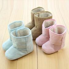 Winter Cute Infant Toddler Boy Girl Soft Non-slip Sole Fur Shoes Snow Warm Boots