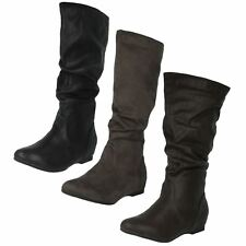 SALW NOW £9.99 Ladies Coco Mid-Calf Zip-Up Boots in Black, Brown or Grey - L9333