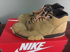 NIKE AIR TRAINER 1 MID PREMIUM QS WHEAT FLAX - OUTDOOR GREEN 607081-201