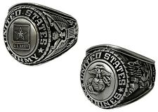 ARMY or Marine Military Forces Silver  Insignia Engraved Class Ring  842 843