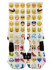 Custom Nike Elite Emoji Socks Rare Limited Customized Elites Mens Womens USA!