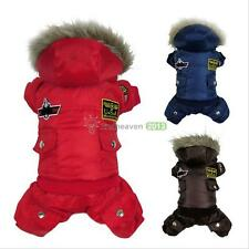 Thick Warm Small Dog Pet Clothes Apparel Hoodie Jumpsuit Pants for Winter
