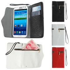 Flip Leather Case Zipper Card Wallet Cover Pouch For Samsung Galaxy S4 S3 i9300