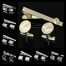 Buy 6 Get 1 Free Personalized Shirt Wedding Men's Cufflinks Tie Clip Bar Clasp