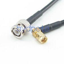 SMA male plug right angle to BNC male RG58 RF Coaxial Cable Any inch Length lot