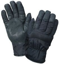 Black Tactical Nylon & Thermoblock Windproof Cold Weather Insulated Gloves 4494