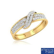 0.33 Ct Certified Natural Diamond Ring in 14k Hallmarked Gold Ring Jewellery