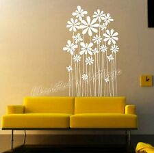 Daisy Flower Plant Vinyl Wall Art Graphic Sticker Decals House Window Decoration