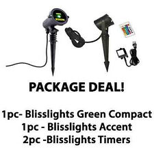 Package Deal BLISSLIGHTS 1-GREEN Spright Compact+1-Accent 16 Color LED + 2Timers