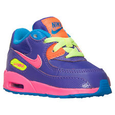 NEW NIKE BABY AIR MAX 90 TODDLERS [408112-503]  HYPER GRAPE// VOLT-HYPER PINK