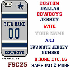Custom Dallas Cowboys Phone Case Cover w Your Name & Jersey # FOR IPhone Samsung